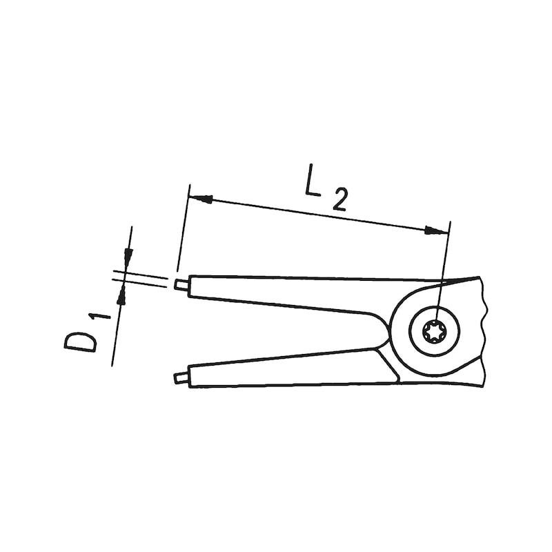 サークリッププライヤー C型 - スナップリングプライヤー 内直 225MM