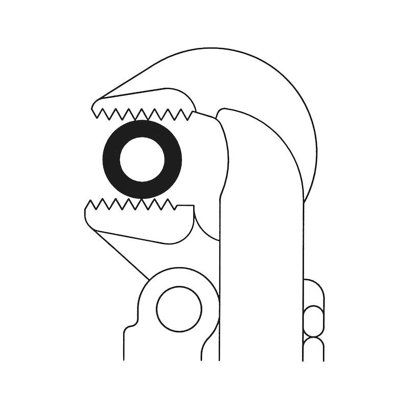 Eck-Rohrzange 90 Grad - 4