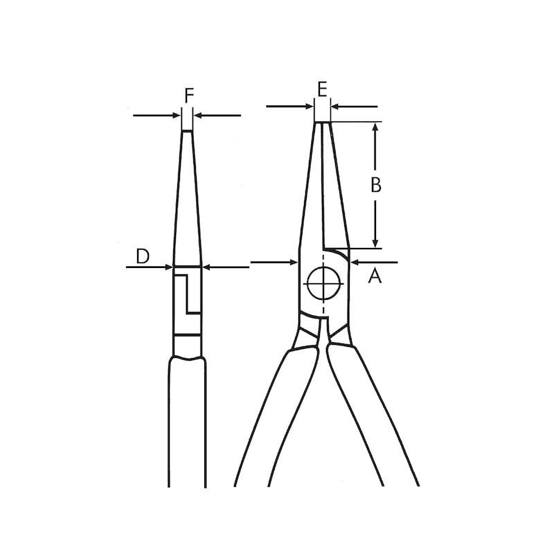 Alicate de pontas semirredondas para eletrónica - 2