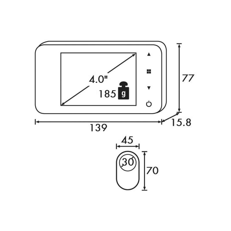 Elektronischer Türspion EDG 2 - 2