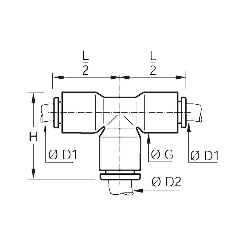 Kunststoff-T-Verbinder - 2