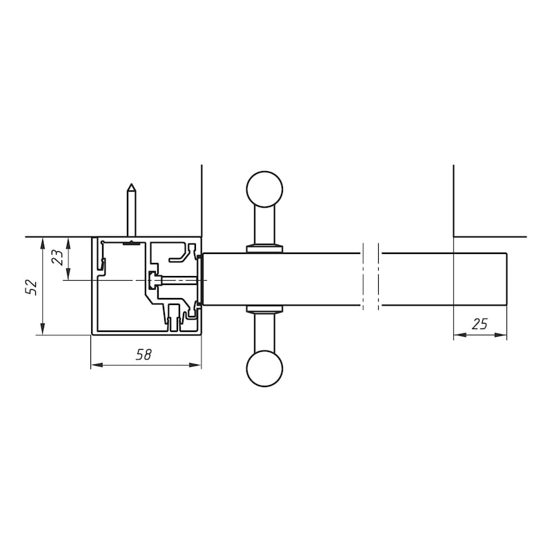 Anschlagkasten-Set - 2