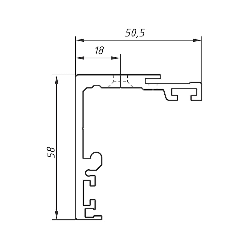 Einfachlaufschienen-Set ABILIT - 3