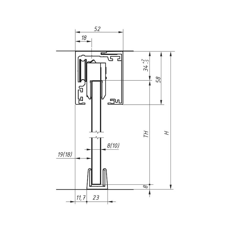 Zimmerschiebetürbeschlag-Set  ABILIT 120-G - 3