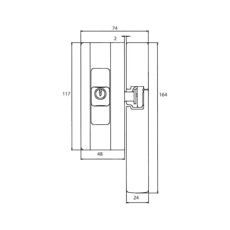 Fenster- und Türsicherung Blocksafe BS 2 - 2