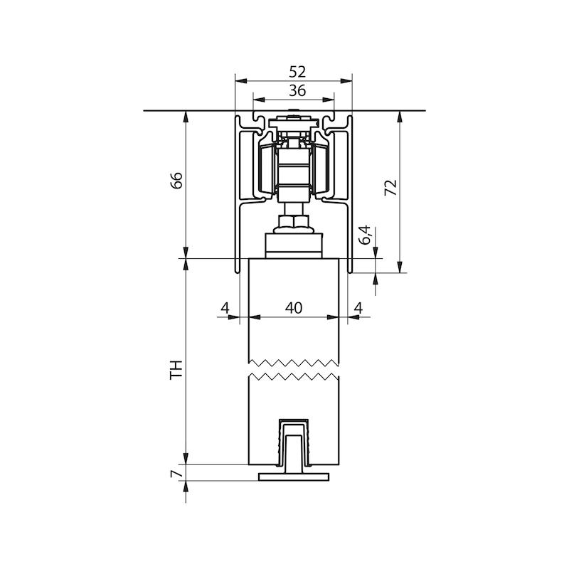 Zimmerschiebetürbeschlag-Set SCHIMOS 80-HS - 2