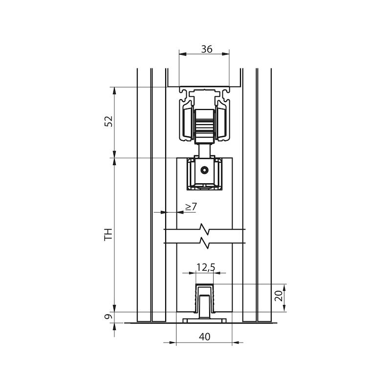 Zimmerschiebetürbeschlag-Set SCHIMOS 80-HN - 2