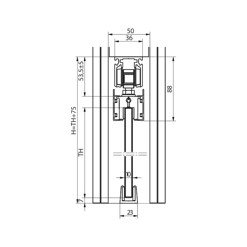 Zimmerschiebetürbeschlag-Set SCHIMOS 80-GN - 2