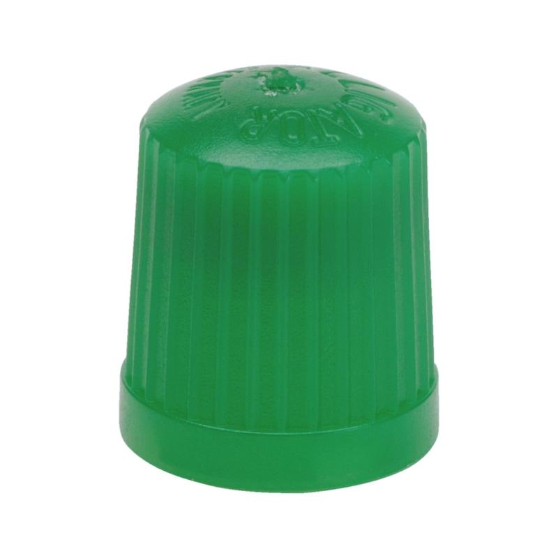 Ventilkappe Kunststoff, grün mit Dichtung