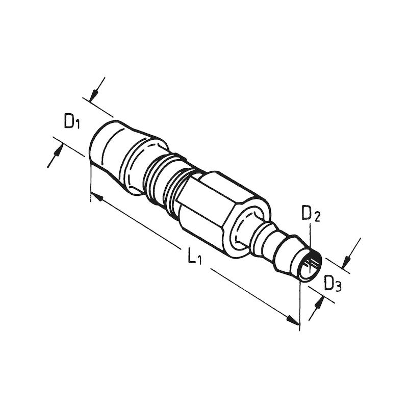 継ぎ手接続ピース - PVCホースコネクター 直テーパー 4-3