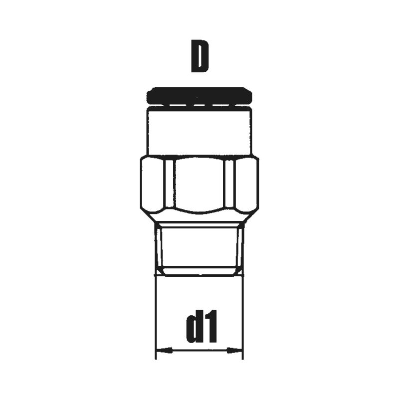 Gerade Einschraubverschraubung steckbar - ARM-ZSA-(EINSHRB-VSHR)-GD-STEB-D4-M10X1K