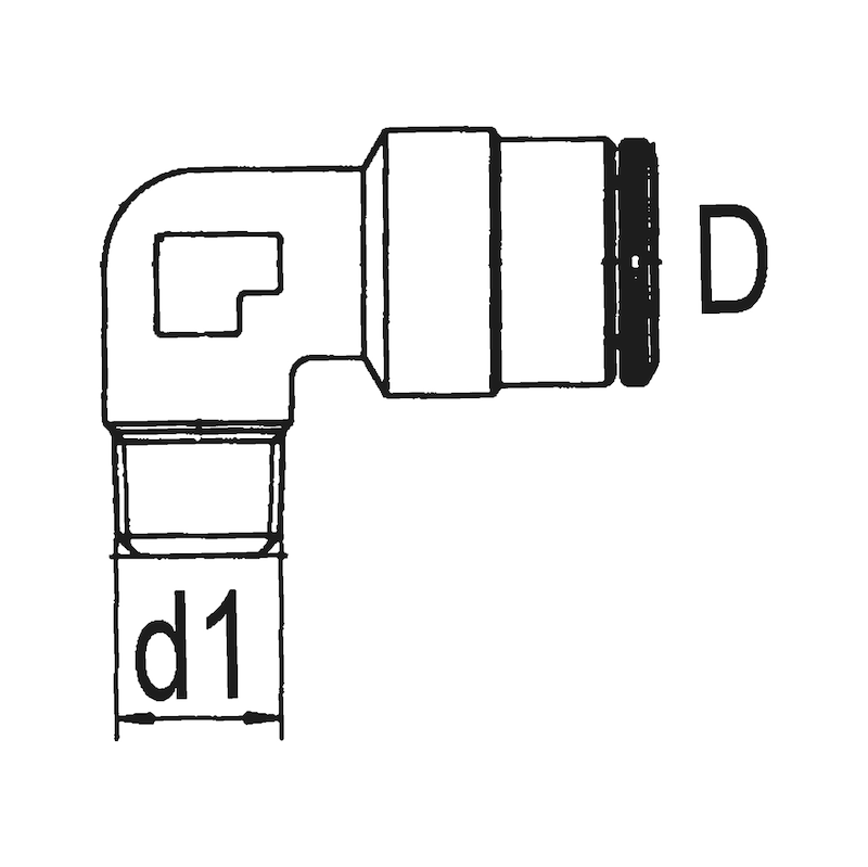 Winkel-Einschraubverschraubung steckbar - ARM-ZSA-(EINSHRB-VSHR)-WNKL-STEB-D6-M6X1