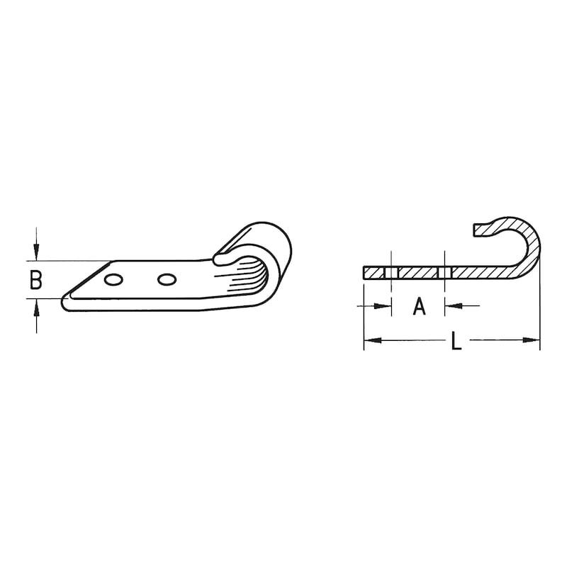 Crochet pour bâche ouvert - 2