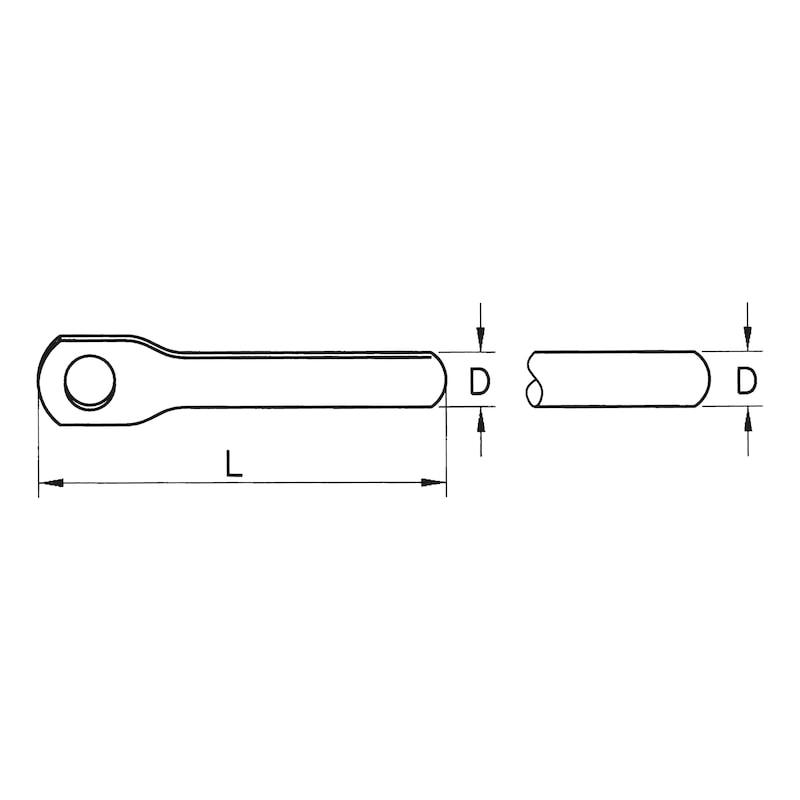 Seil-Endverschluss mit Simplex-Haken - 2