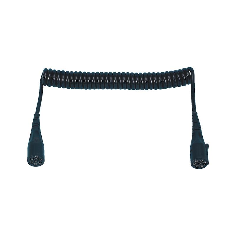 Spiral wire 7-pin 24V
