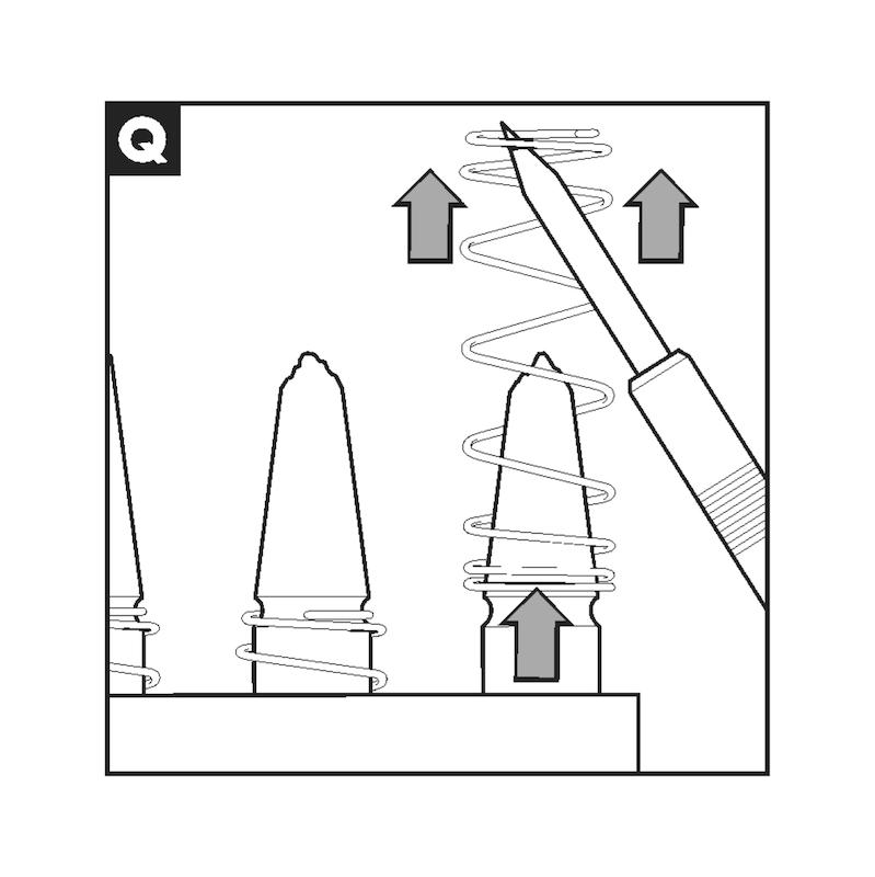 Anschweißelektrode mit Feder - 2