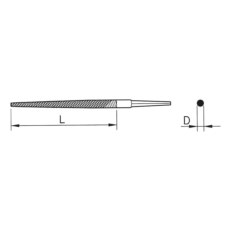 Holzraspel Rund, DIN 7263, Form E - 2