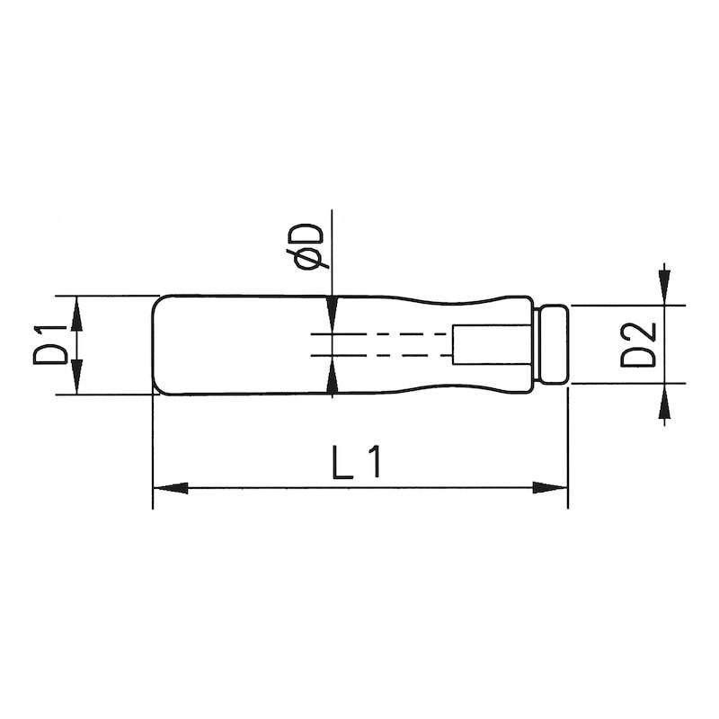 ヤスリハンドル - ヤスリ用ハンドル 木製 130X7.0MMΦ