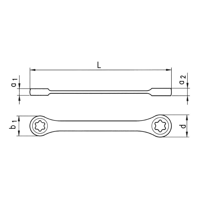 Ratschen-Doppelring-Schlüssel - 2