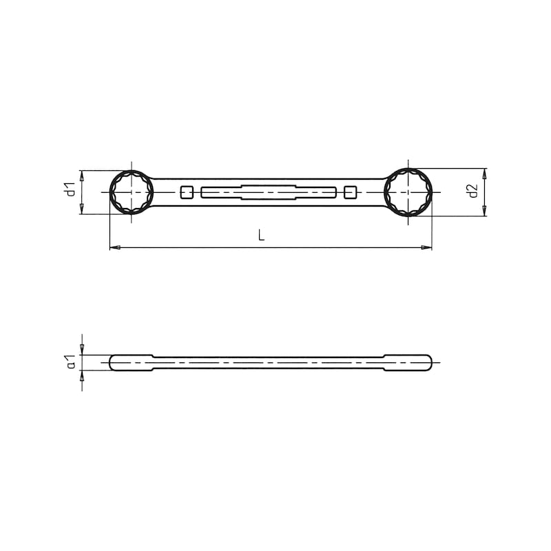 Doppelringschlüssel Powerdriv<SUP>®</SUP> - DPRGSHSL-METR-GD-SW10X11