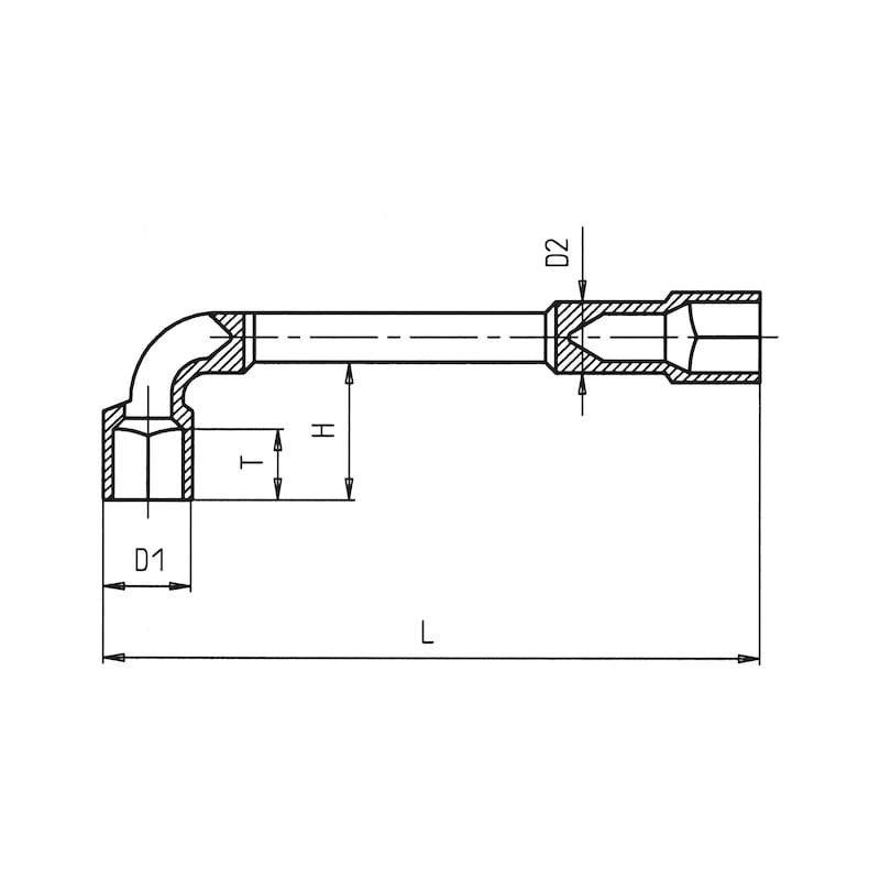 Clé à pipe débouchée - 2