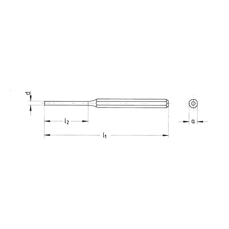 Splinttreiber - SPLTREIB-8MM-L150MM