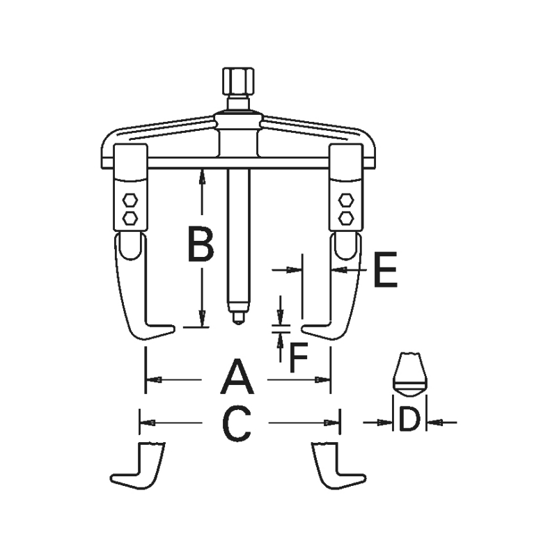 Extracteur à deux bras coulissants Universal - 2