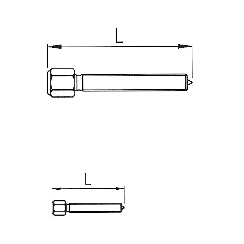 Außenabzieher zweiarmig verstellbar - ABZI-IN/AUS-2ARMIG-SPW250MM