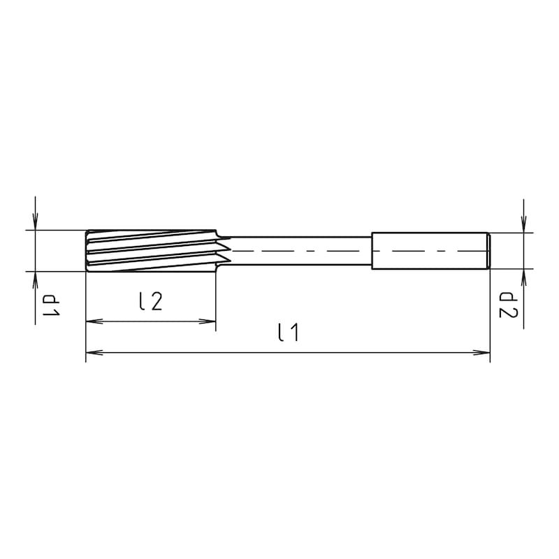 NC-Maschinenreibahle H7 HSCO WN - MAREIBAHL-HSCO-DIN1835A-H7-D5,4-L93/26
