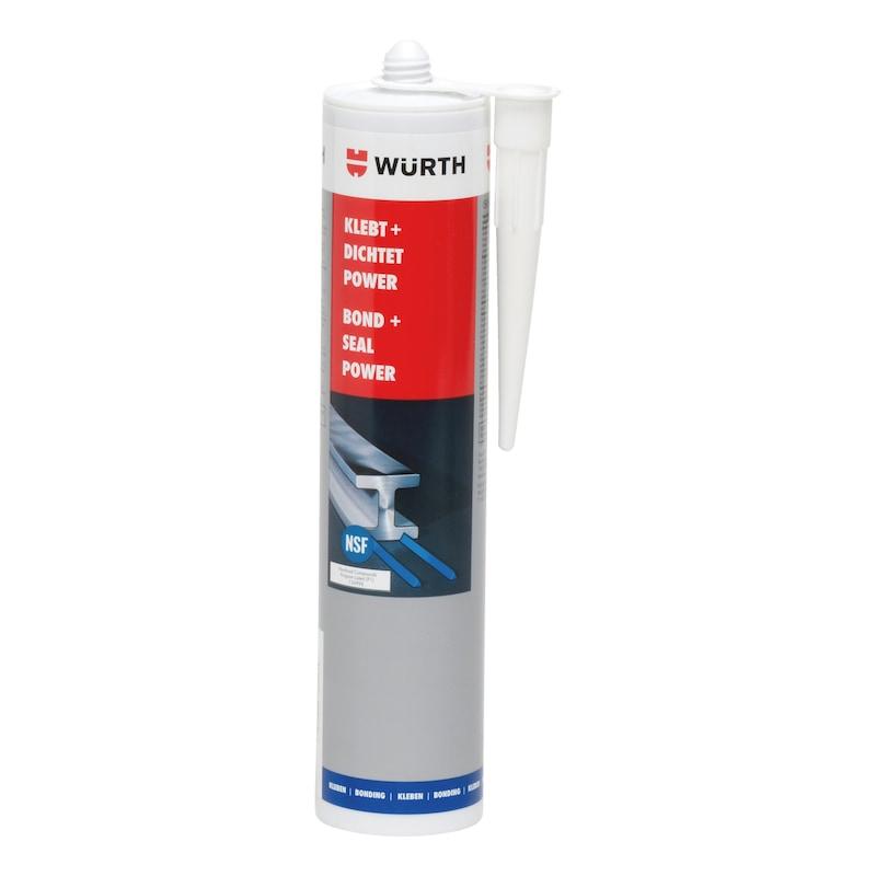 Konstruktionsklebstoff Klebt + Dichtet Power - KONSTKLEBST-KD-POWER-SCHWARZ-KART-300ML