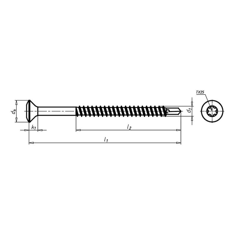 Strešná skrutka EUROFAST<SUP>®</SUP> EDS-B - SKRUTKA (EDS-B-48140) 4,8X140