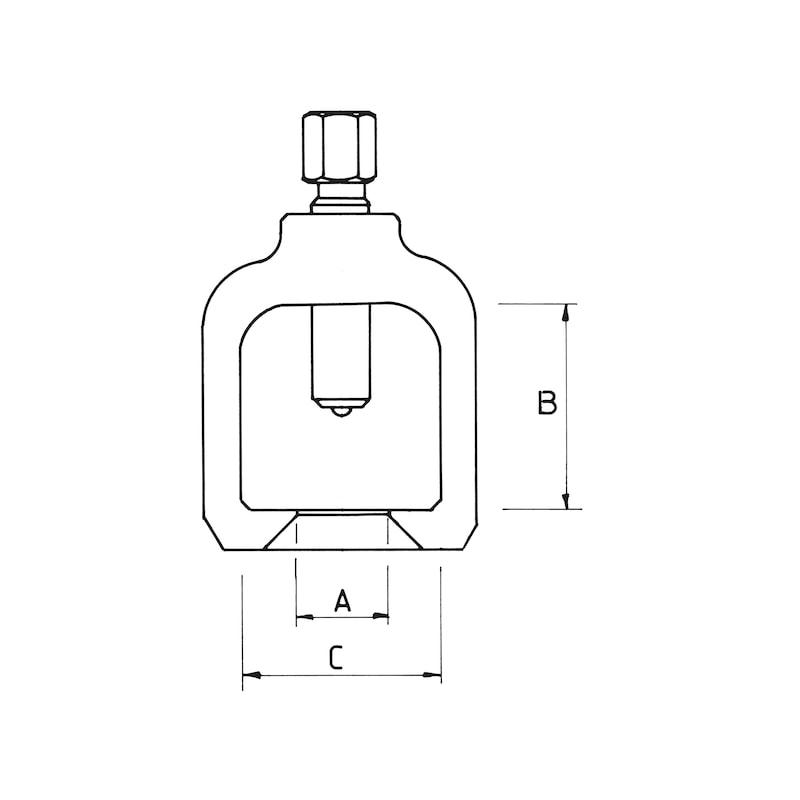 Kugelgelenk-Abzieher Stahlfeinguss - 3