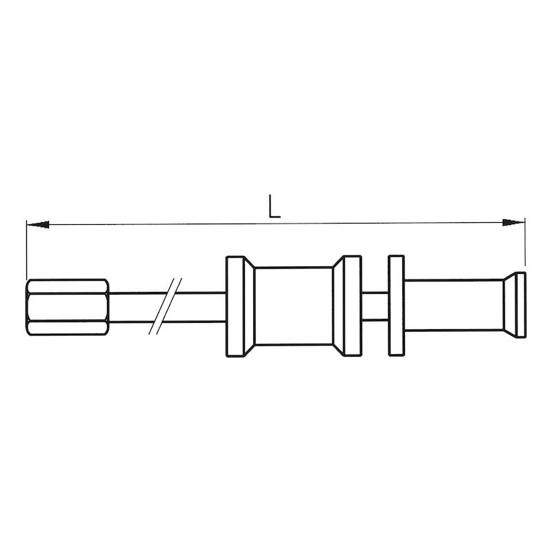 Gleithammer für Innenauszieher mit Gewinde M7 und M10 - GLEITHAM-INAUSZI-D(6-40MM)