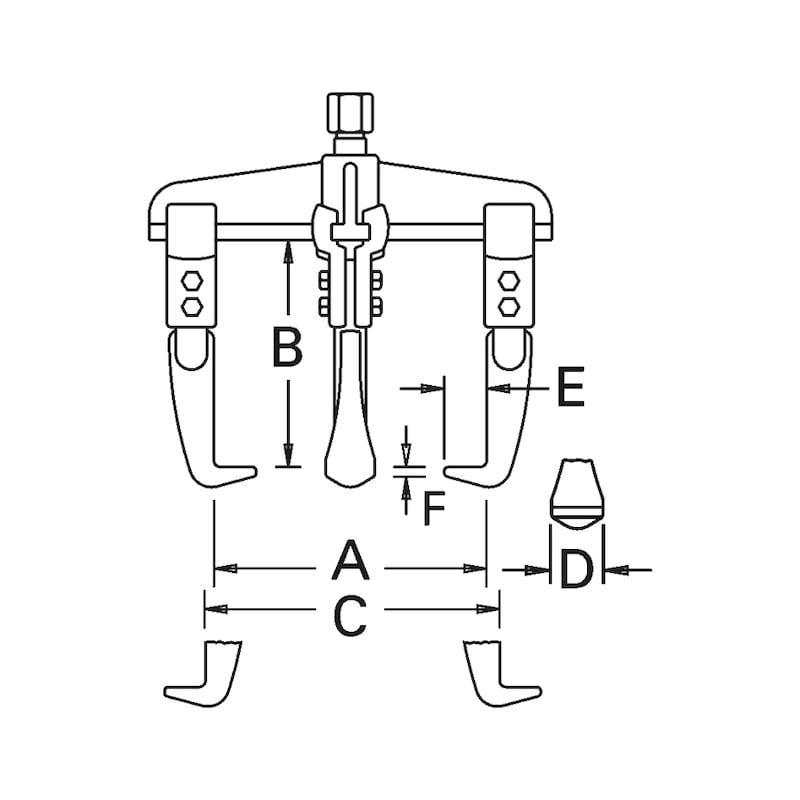 Außen- und Innenabzieher dreiarmig Universal - 3
