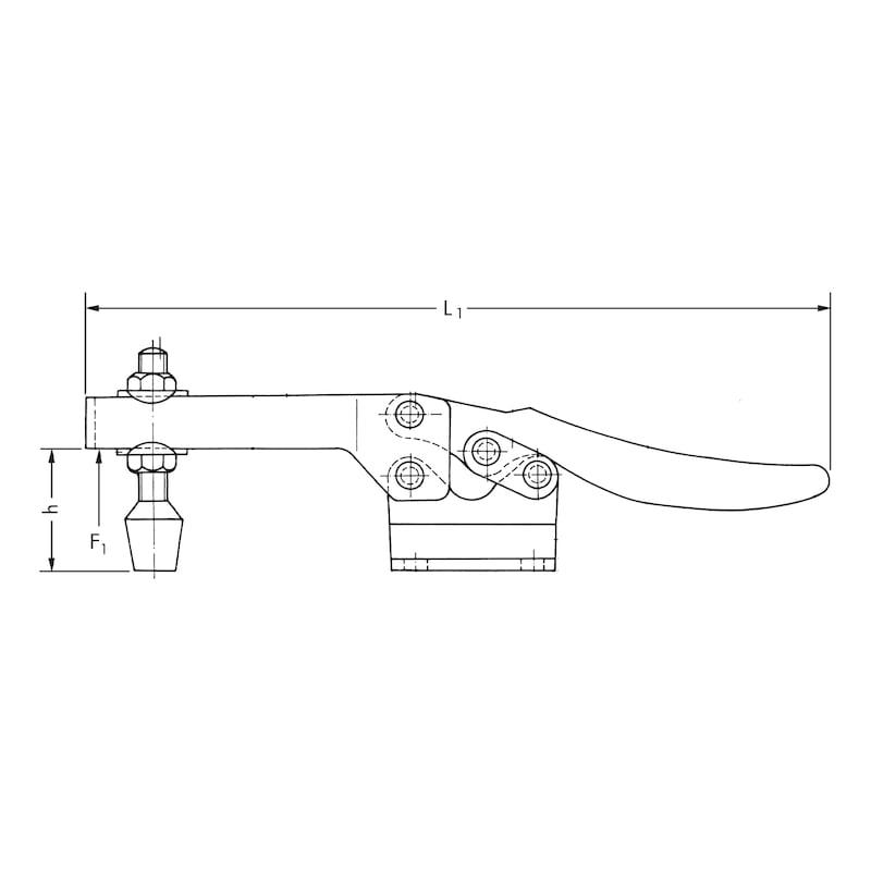 Schnellspanner Waagrecht - SHNLSPN-WAAGRECHT-L168,0MM