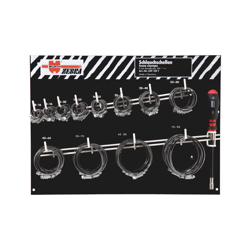 Kit fascette stringitubo, larghezza nastro: 12 mm - ASS.FASC.ZEBRA DA 16/25 A 100/120