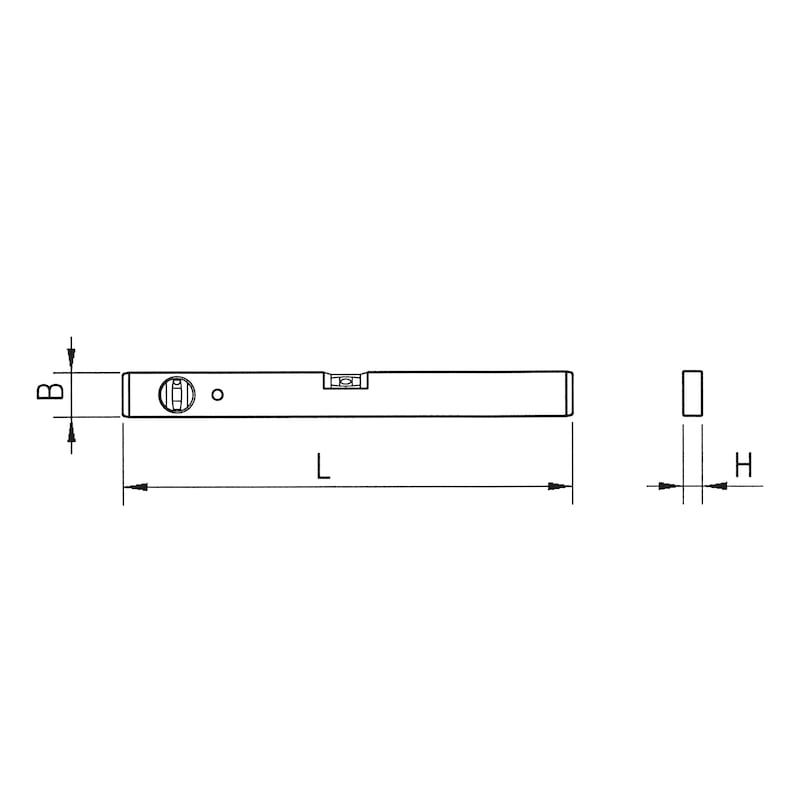Light metal spirit level - LEVL-LMET-LM-80CM