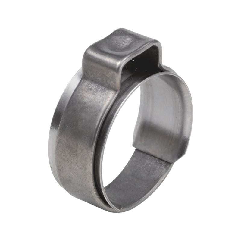 Fascetta a un'orecchia con anello di protezione - FASCH.1 ORECCH. INOX A2  5,2-6,2MM