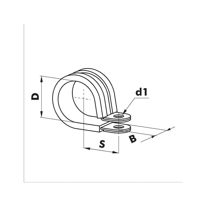 Pipe fastening clamp Multifix - 2