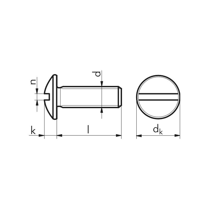 Vis à tête ronde à fente - VIS-POELIER-TRL-4.8-FENDUE-(A2K)-M8X30