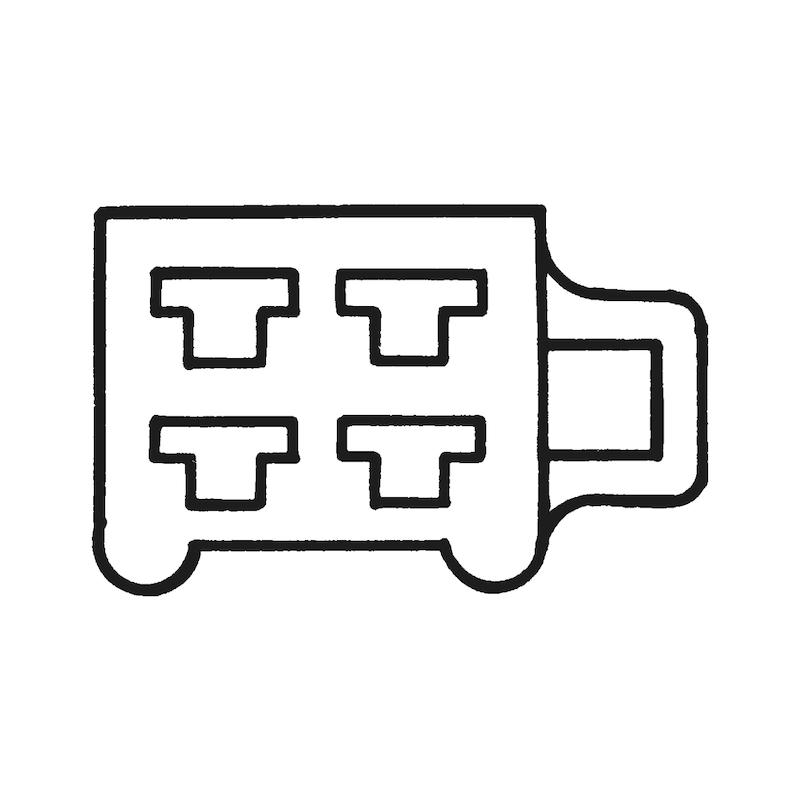 Kablo klemensleri için çoklu muhafazalı fiş soketi 2,8 x 0,5 mm - 9LU SOKET DİŞİ KLMN.İÇİN 2,8MM TIRN.BYZ