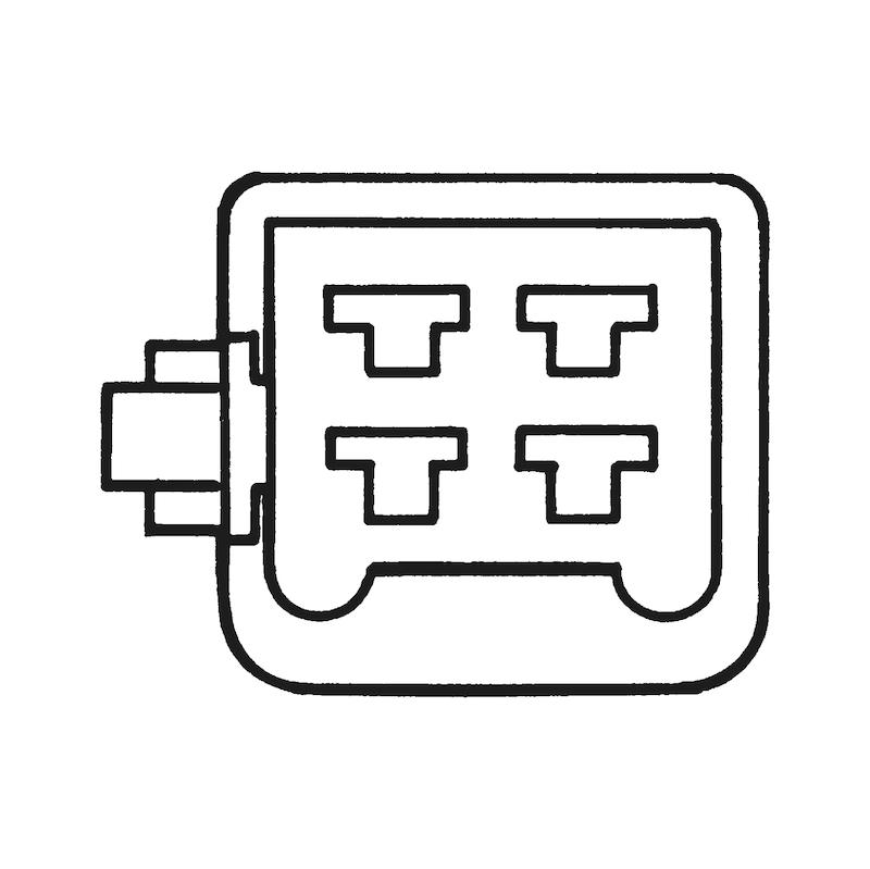 Kablo uçları için çoklu muhafazalı fiş soketi 2,8 x 0,5 mm - 6LI SOKET ERKEK KLMN.İÇİN 2,8MM TIRN.BYZ