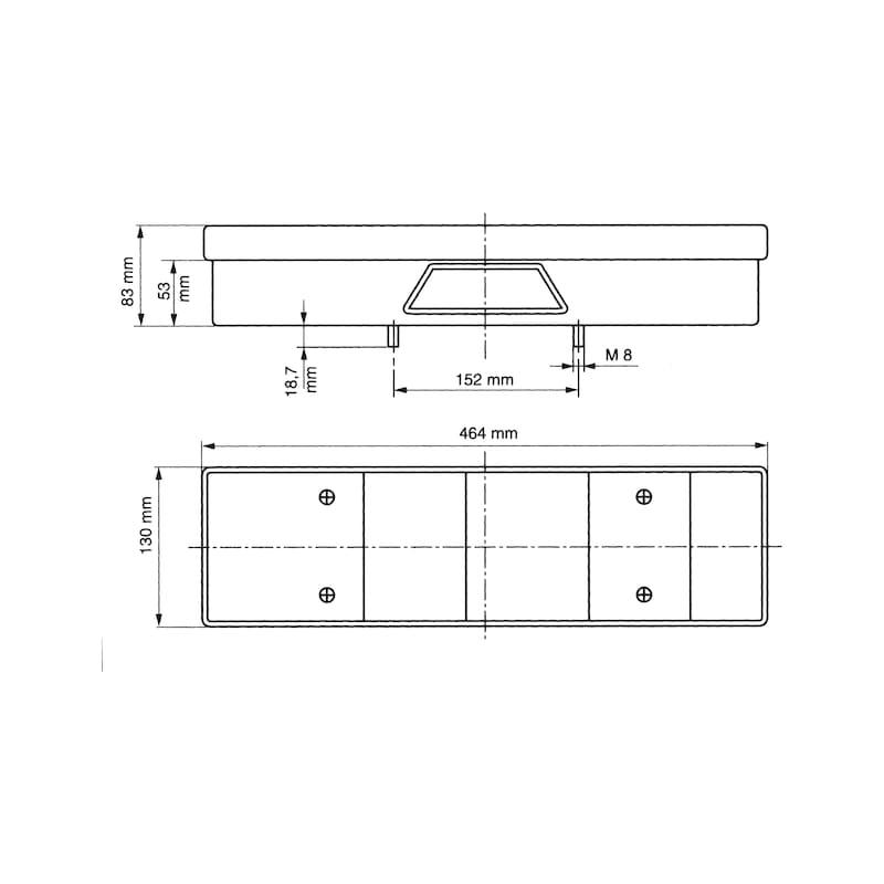 7-Kammer-Leuchte 24 V - 2