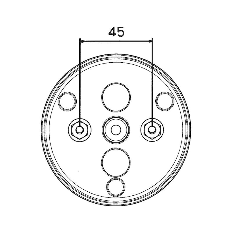 3-Kammer-Leuchte 12 V/24 V - 2