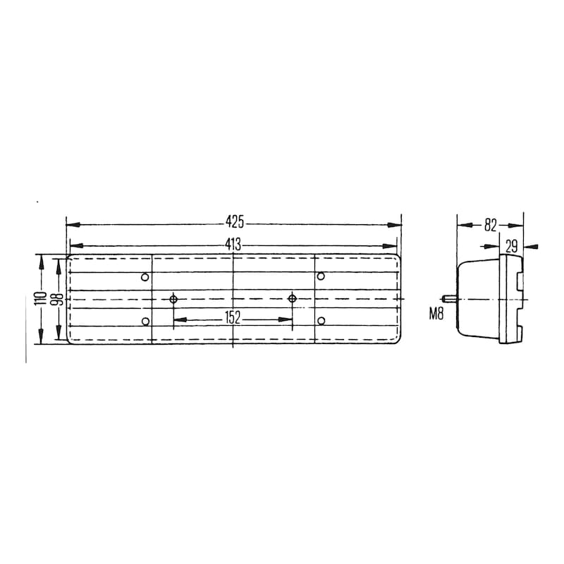 4-Kammer-Leuchte 24 V - LEUCHT-4KAM-MB-RECHTS