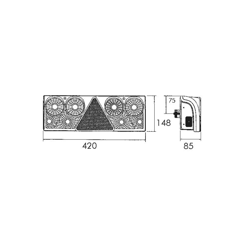 Multifunktionale Mehrkammer-Leuchte II 24 V - 2