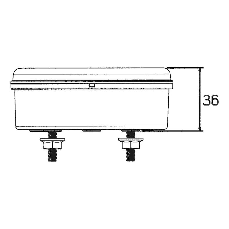 3-Kammer-Leuchte 12 V/24 V - 1