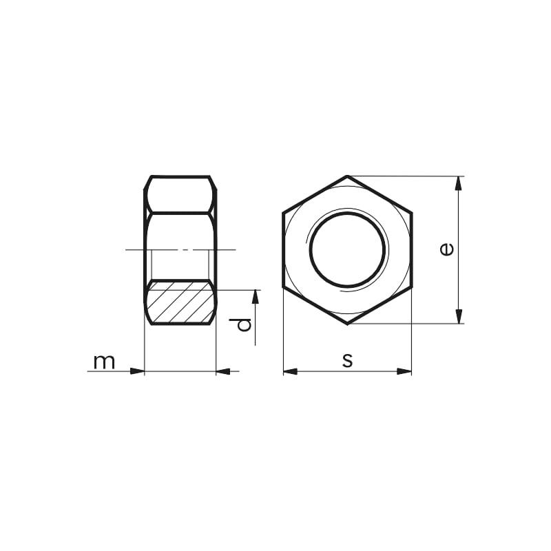 Sechskantmutter mit Klemmteil (nichtmetallischer Einsatz) - 2
