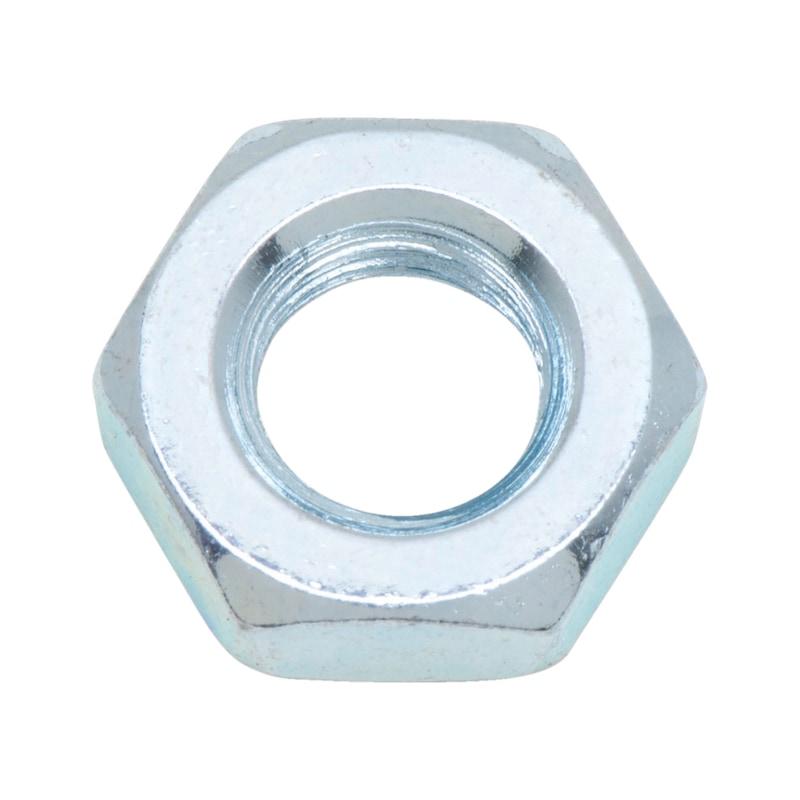 Sechskantmutter flache Form mit Feingewinde - MU-6KT-DIN936-04-SW19-(VZD)-M12X1,5