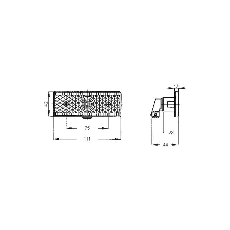 Seitenmarkierungsleuchte 12 V/24 V - 2